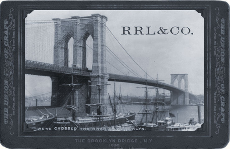 Vintage photo of Brooklyn Bridge